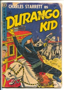 Durango Kid #24 1953-ME-Hooded menace cover-Low grade reading copy-centerfold...