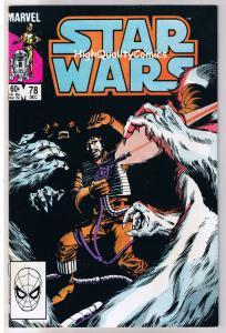 STAR WARS #78, VF/NM, Luke Skywalker, Darth Vader, 1977, more SW in store