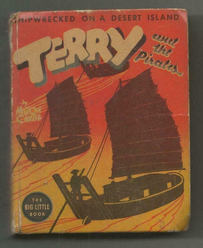 Terry + The Pirates Shipwrecked on Desert Island 1938 Whitman Big Little Book