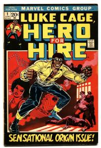 Hero For Hire #1 First appearance of Luke Cage Marvel comic book 1972