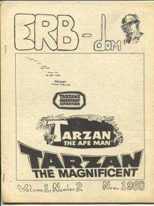 ERB-dom Vol. 1 #2 11/1960-early Burroughs & Tarzan fanzine-Gordon Scott-VG