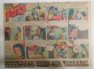 Miss Fury Sunday by Tarpe Mills from 12/3/1944 Size: 11 x 15  Very Rare Year #4