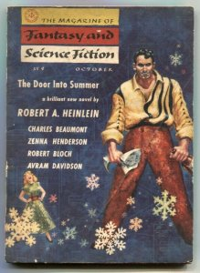 Magazine of Fantasy and Science Fiction 10/56- Door Into Summer