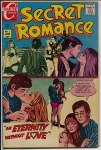 Secret Romance #7 1970-Charlton-signed by Cheryl-Beatniks-Greenwich Village-VG