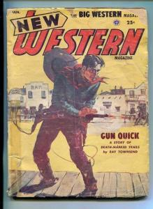 NEW WESTERN-JAN 1954-VIOLENT PULP FICTION-SHOOT OUT COVER-COBURN-good minus