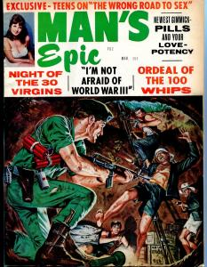 Man's Epic Pulp Magazine March 1968- Green Beret cover- night of 30 virgins