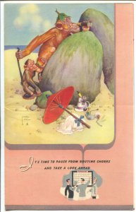 Lawson Wood-Monkeys-Salesman Sample Calendar Art 1953-folds out-FN