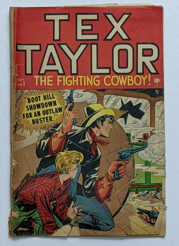 Tex Taylor #1 (Sept 1948, Timely) Good- 1.8 Syd Shores cover