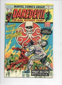 DAREDEVIL #121 FN+ Black Widow, Murdock, DreadNaut, 1964 1975, Marvel