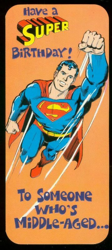 NEAL ADAMS SUPERMAN BIRTHDAY CARD #19 1978 NM