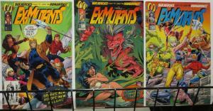 EX MUTANTS (1992 MALIBU) 1-3 Pelletier