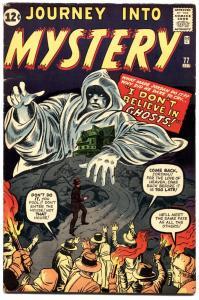 JOURNEY INTO MYSTERY #77-1962-MARVEL-HORROR-KIRBY-DITKO-vf-