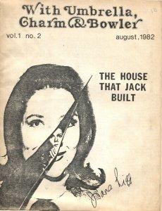 WITH UMBRELLA, CHARM & BOWLER-#2--1982--AVENGERS TV SERIES FANZINE-DIANA RIGG