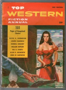 Top Western Fiction Annual 1951-Good Girl Art cover-western pulp fiction-FN