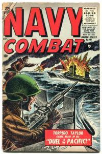 Navy Combat #3 1955-Atlas-Torpedo Taylor-Don Heck--Joe Sinnott-G/VG