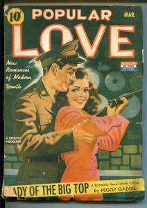 Popular Love-3/1943-Thrilling Pubs-carnival-soldier-Peggy Gaddis-VG MINUS