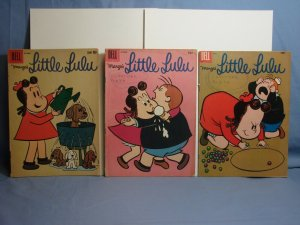 LOT Of 3 Issues Marge's Little Lulu Dell Comics 1956-1958 Golden/Silver Age L@@K