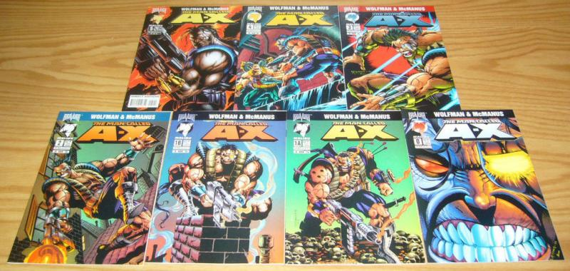 Man Called A-X #0 1-5 VF/NM complete series + variant MARV WOLFMAN shawn mcmanus