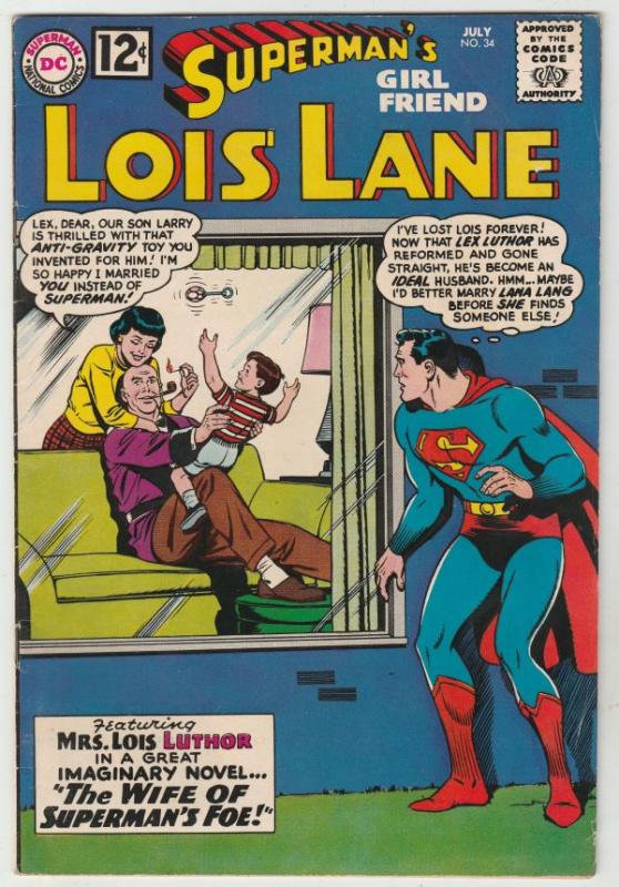 Superman's Girlfriend Lois Lane #34 (Jul-62) VF/NM High-Grade Superman, Lois ...