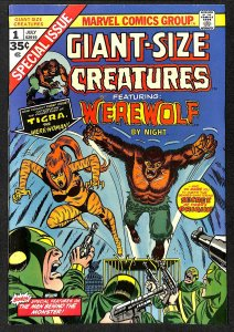 Giant-Size Creatures #1 FN/VF 7.0 1st Tigra Featuring Werewolf by Night!