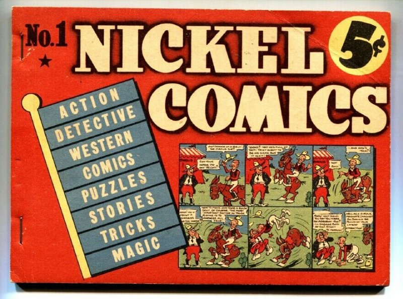 Nickel Comics #1-1938-very rare DELL-Gerber 7-Otto Messmer
