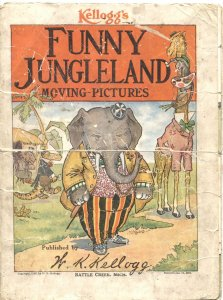 FUNNY JUNGLELAND MOVING-PICTURES-1909-KELLOGGS-PRE COMIC PROMOTIONAL ITEM