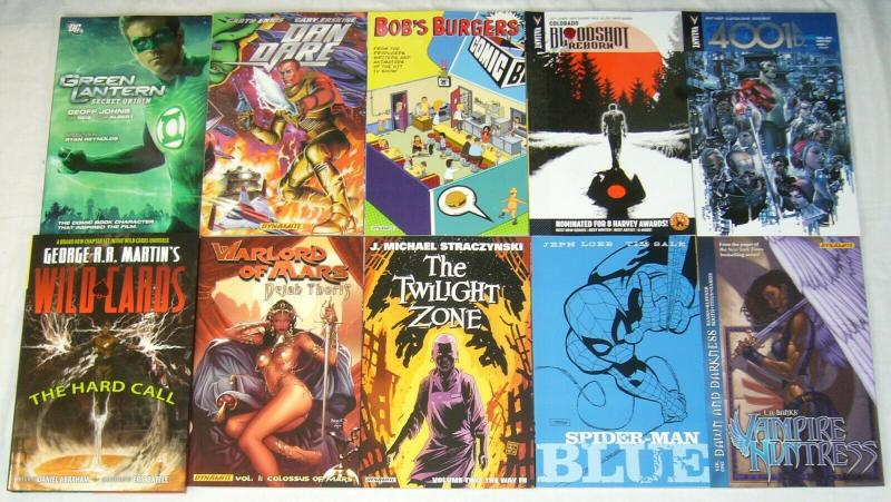 Wholesale lot of (10) TPBs - marvel/dc/more  spider-man blue - (value: $172.90)