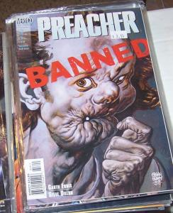 preacher  #58 vertigo dc 2000 garth Ennis high quality  PAINTED COVER BY FABRY