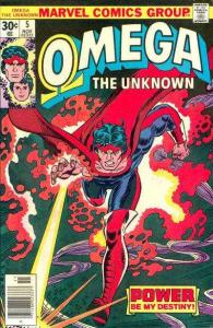 Omega the Unknown (1976 series) #5, VF- (Stock photo)