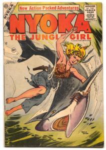 Nyoka The Jungle Girl #15 1956- Shark cover Charlton FN