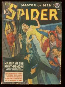 THE SPIDER SEPT 1940 ASAIN MENACE GOOD GIRL STOCKBRIDGE VG/FN