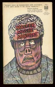 MASTER MOVIE MONSTERS PAPERBACK 1965-MERIT BOOK #7M817 VG