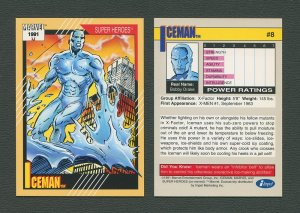 1991 Marvel Comics II  Card  #8 ( Iceman)  MINT