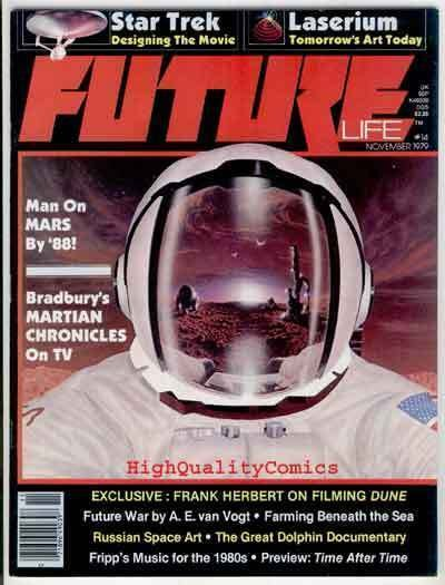 FUTURE #14, Sci-Fi Magazine, Star Trek, VF/NM, Ray Bradbury, 1978,Frank Herbert