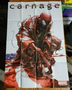LARGE 36 x 24 Carnage USA #1 Clayton Crain Promo Poster 2011 SUPER RARE!