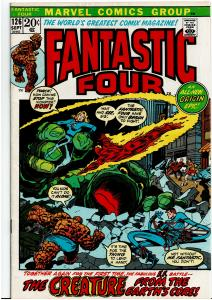 Fantastic Four #126, 4.0 or Better - Roy Thomas Scripts Begin - FF Origin Retold