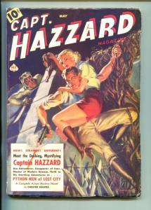 CAPT. HAZZARD #1-05/1938-NORMAN SAUNDERS-PYTHON MEN OF LOST CITY-vf minus