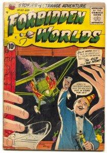 Forbidden Worlds #60 1957-  Plane crash cover FAIR