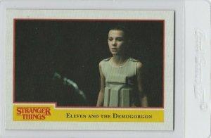 Stranger Things Eleven And The Demogorgon 80 Topps Netflix 2018 Season One card