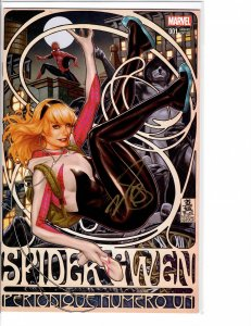 Spider-Gwen (2015) #1 Mark Brooks Variant Signed w/COA NM (9.4)