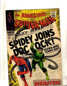 Amazing Spider-Man # 56 FN/VF Marvel Comic Book Stan Lee Goblin Kraven Rhino FM2