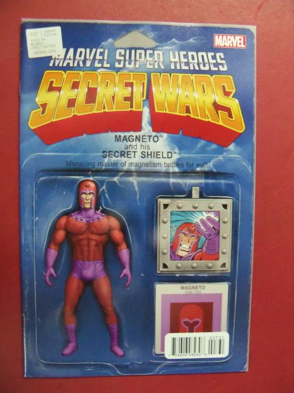 MARVEL SUPER HEROS SECRET WARS #7, MAGNETO  ACTION FIGURE  VARIANT COVER, MARVEL