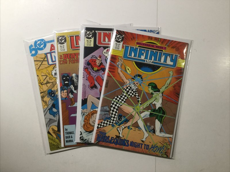 Infinity Inc 47 49 51 Annual 1 Lot Run Set Near Mint Nm Dc Comics