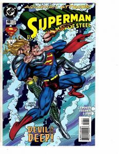 9 Superman Man Of Steel DC Comics # 48 49 51 52 53 54 55 56 57 Batman Flash J214