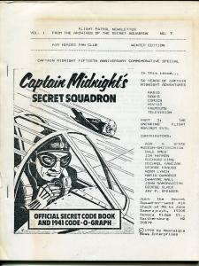 Flight Patrol Newsletter #7 1990-Capt Midnight-comics-books-radio-TV-FN