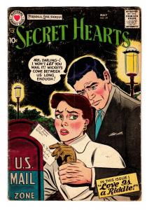 SECRET HEARTS #39 comic book 1957-DC ROMANCE G/VG