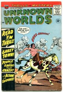 Unknown Worlds #42 1965- ACG Silver Age-  Ghost Town G/VG