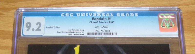 Vandala #1 CGC 9.2 premium edition variant limited to 3,000 david nestler chaos