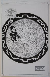 J H WILLIAMS III / MICK GRAY  original art, CHRONOS #1 M pg 22, 11x17, Splash