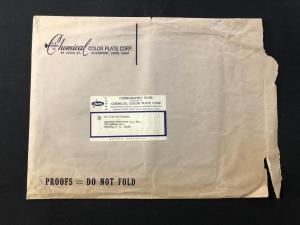 Marvel Comics Production Envelope- Chemical Color Plate Corp